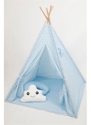 """Bebe Konfor Oyun Çadırı """"Pembe Yıldız"""" Mavi"""